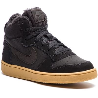 competitive price 1cb97 450f3 Nike Buty - court borough mid wntr gs aa3458 002 blackblack gum light  brown eobuwie.pl