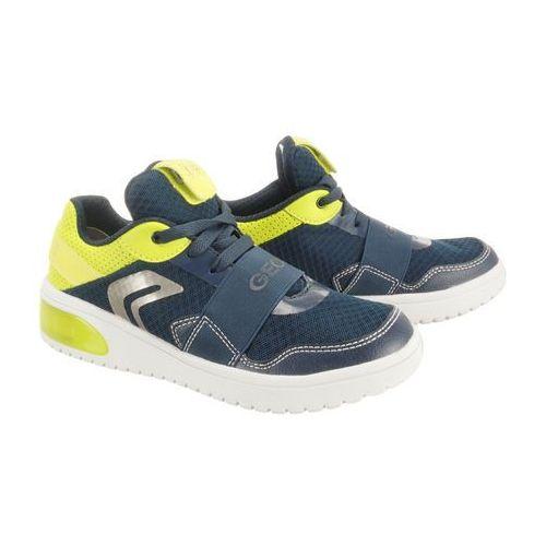 GEOX J927QB 01454 J XLED BOY C0749 navy/lime, półbuty sportowe dziecięce, rozmiary: 36, kolor niebieski