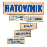 Emblemat odblaskowy prostokąt - napis - 10x31cm