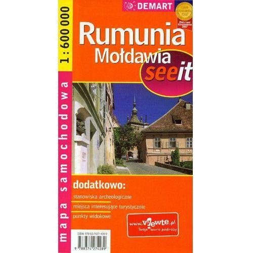 Mapa samochodowa. Rumunia, Mołdawia. 1:600 000. - Praca zbiorowa (9788374274289)