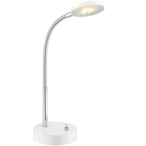 lampa biurkowa DENIZ LED biała, GLOBO 24123