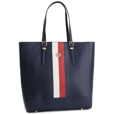accc63ce6727d Tommy hilfiger Torebka - honey work bag corp aw0aw06415 901 eobuwie.pl