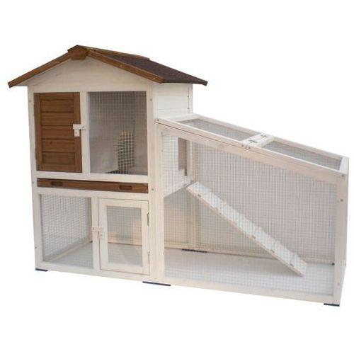 @Pet Klatka dla królika Tommy, biało-brązowa, 140x65x100 cm, 20072