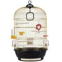 Ferplast Diva mosiądz klatka okrągła dla kanarka, papużki z wyposażeniem