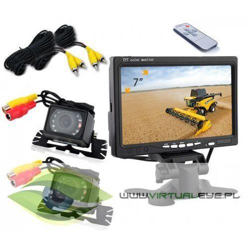 Virtualeye 2x kamera cofania monitor 7 cali diody ir 6m bus