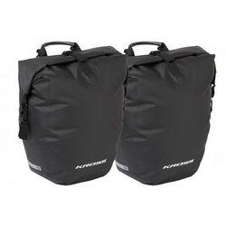 Sakwa na bagażnik KROSS AQUA STOP 50L (2x25L), wodoodporna, czarna, T4CTO000040-PARA