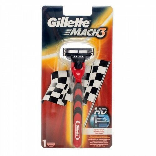 Gillette Mach 3 Red Racing Stripe Razor,707 - Najtaniej w sieci