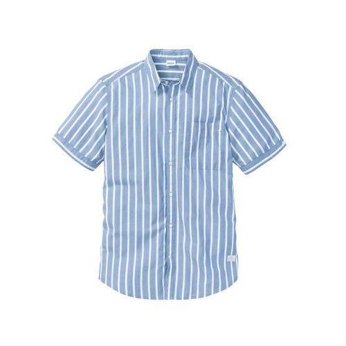 Koszula martos 1850 długi rękaw custom fit niebieski (Recman  hnARV