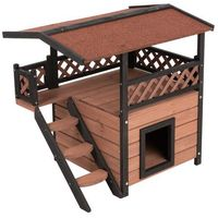 Zooplus exclusive Maisonette domek dla kota - dł. x szer. x wys.: 77 x 56,4 x 72,4 cm| -5% rabat dla nowych klientów| dostawa gratis + promocje (4054651000021)