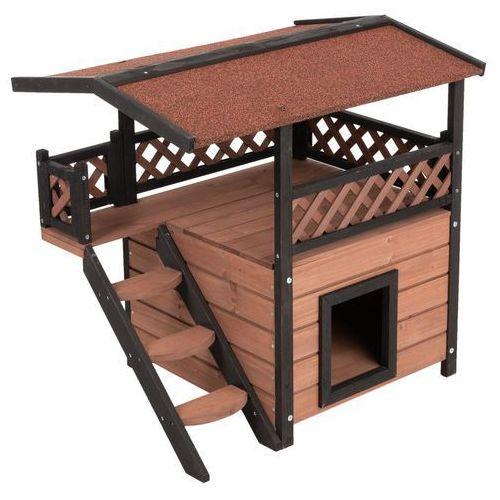 Zooplus exclusive Maisonette domek dla kota - dł. x szer. x wys.: 77 x 56,4 x 72,4 cm  -5% rabat dla nowych klientów  dostawa gratis + promocje (4054651000021)