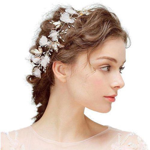 Exclusive wedding by milla Opaska ozdoba ślubna motyle pudrowe kwiaty