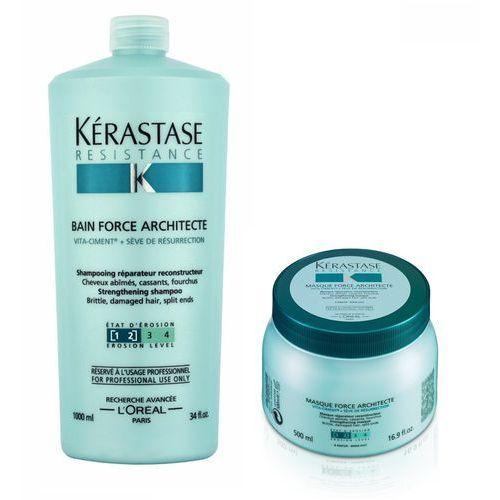 Kerastase Force Architecte Zestaw odbudowujący włosy | kąpiel 1000 ml + maska 500 ml