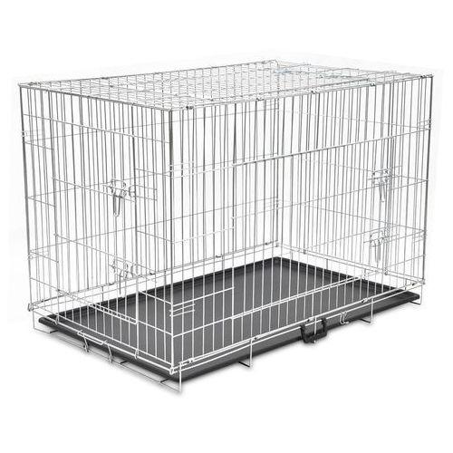 Vidaxl klatka dla psa metalowa składana xxl