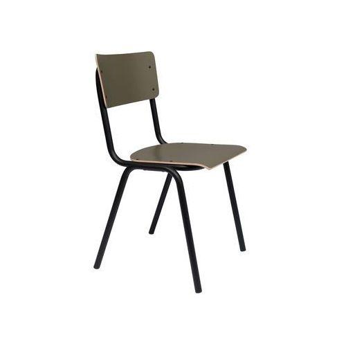 Zuiver Krzesło BACK TO SCHOOL oliwkowy mat 1100376