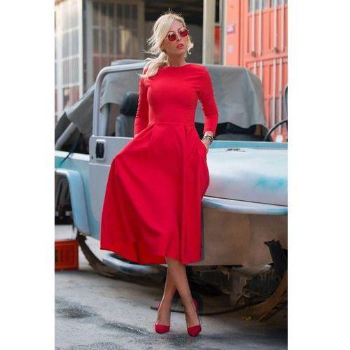 Sukienka JASMINA RED, kolor czerwony