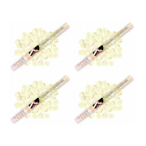 Tuba strzelająca, kremowe sztuczne płatki róż, 60 cm, 4 szt. marki Dp