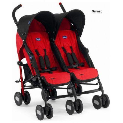 Wózek bliźniaczy Chicco Echo Twin - garnet (8003670917427)