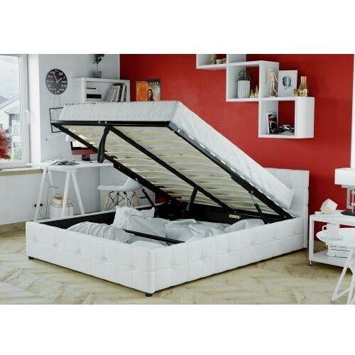 łóżko Tapicerowane Do Sypialni 160x200 Sfg012b Białe Meblemwm
