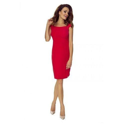 Ołówkowa sukienka z półrękawkami i a'la prostokątnym dekoltem (5903093525557)