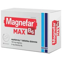 Tabletki MAGNEFAR B6 MAX 50tbl