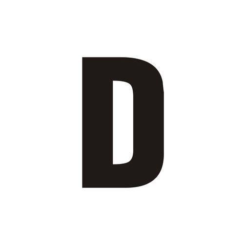 Top design Litera d (czarny/biały)