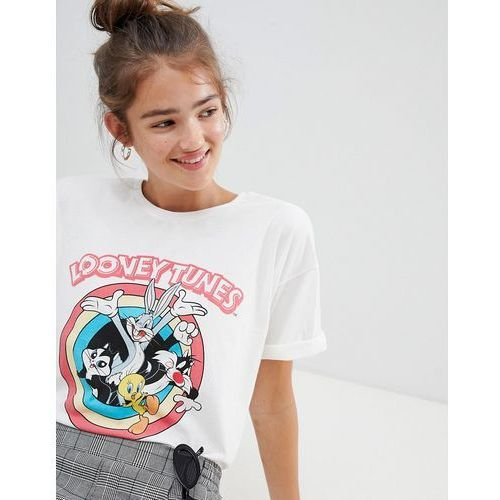 881175c49 Pull&Bear looney tunes t-shirt in white - White, 1 rozmiar ...