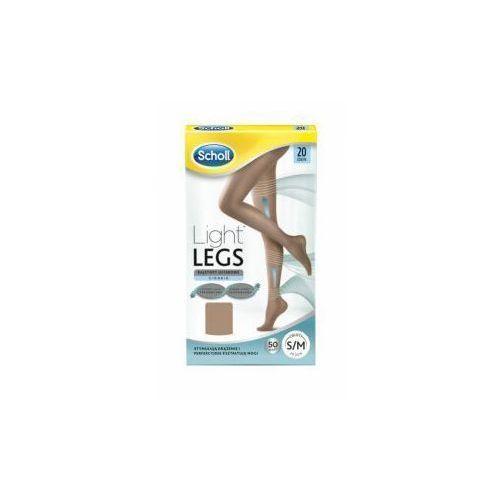 Scholl light legs rajstopy uciskowe 20 den rozmiar s/m cieliste x 1 sztuka