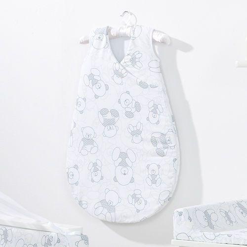 MAMO-TATO Śpiworek niemowlęcy do spania Bubble Misie szare