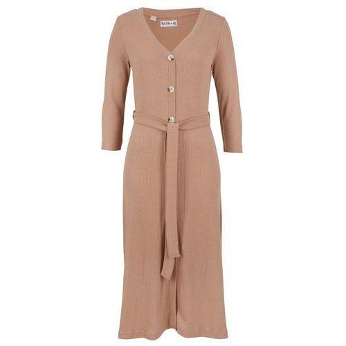 Długa sukienka z krótkim rękawem fuksja, Bonprix, 44-58