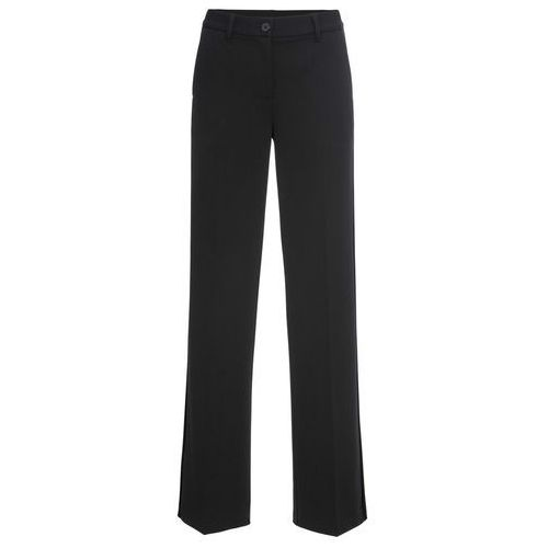 Spodnie ze stretchem Premium bonprix czarny, w 6 rozmiarach