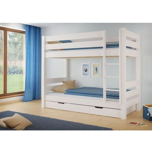 Białe łóżko piętrowe Jan