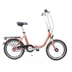 Aluminiowy rower składany SKŁADAK niska rama MIFA 3-biegi SHIMANO NEXUS prądnica miedziany,