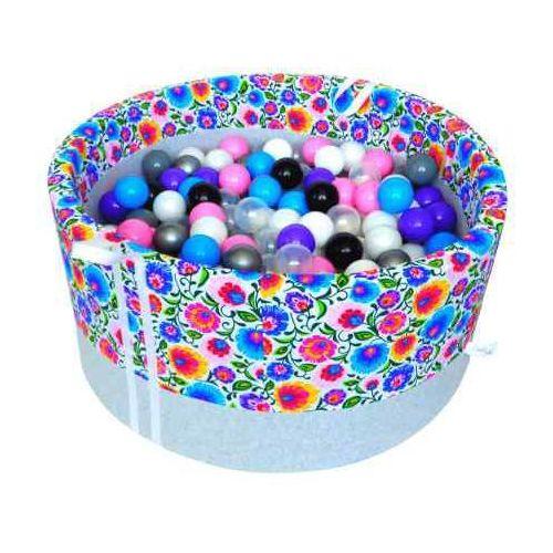 Babyball Suchy basen z piłeczkami dla dzieci łowicki jasny