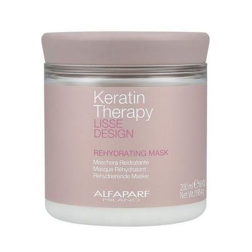 Alfaparf Keratin Therapy Lisse Design Rehydrating Nawilżająca Maska Do Włosów, 200ml (8022297056081)