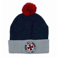 czapka zimowa INDEPENDENT - Btg Bobble Heather Grey/Indigo Heather (HEA GREY/INDIGO HEA)