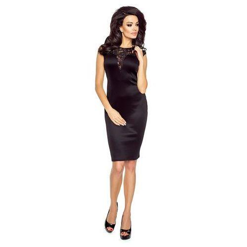 50837207dc Zobacz ofertę Czarna sukienka wieczorowa z wstawką z koronki Kartes moda