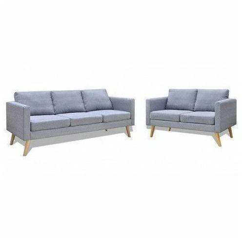 Komplet 2 sof wypoczynkowych bailey - jasnoszary marki Producent: elior
