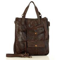 Marco mazzini brąz caffe torebka skóra naturalna shopper safari handmade bag