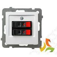 Gniazdo głośnikowe podwójne białe GG-2G/m/00 OSPEL AS