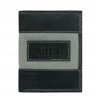 Portfel męski skórzany always wild n4-jeans czarny