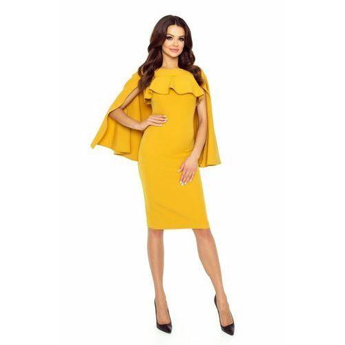Ołówkowa sukienka z pelerynką, M53128_1_s