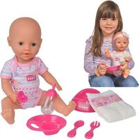 Lalka New Born Baby - Bobas z akcesoriami, 38 cm (4006592525330)