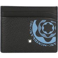 Montblanc Meisterstück Soft Etui na karty bankowe skórzana 10 cm black/blue ZAPISZ SIĘ DO NASZEGO NEWSLETTERA, A OTRZYMASZ VOUCHER Z 15% ZNIŻKĄ