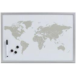Tablica magnetyczna World + 3 magnesy, 60x40 cm, ZELLER, B01D1YQEV0