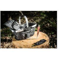 Niezbędnik Grzybiarza: składany koszyk + nóż do grzybów + czapka ochronna + opaska na komary.