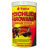TROPICAL Cichlid & Arowana Medium Sticks - pokarm dla pielęgnic i arowan 1l/500g