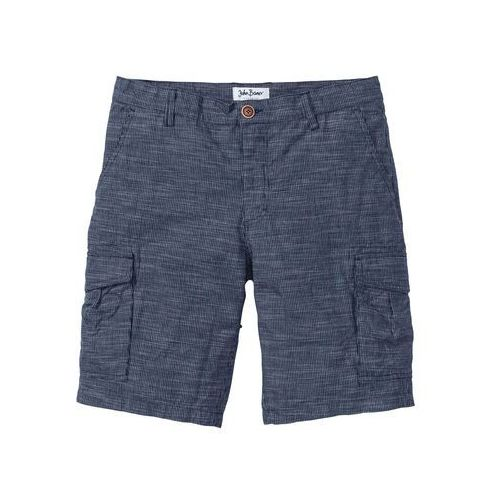 5d1d4f602cbf2c Bonprix Bermudy bojówki Regular Fit bonprix niebieski w kratę, bawełna