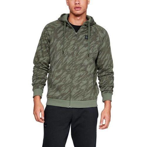 bluza z kapturem rival fleece camo fz hoodie moro marki Under armour