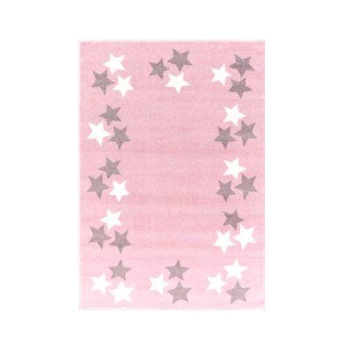 Dywan Dziecięcy Happy Rugs Borderstar 160 X 230 Cm Kolor Różowy Srebrnoszary Livone