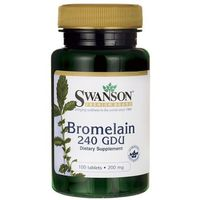 Tabletki Swanson Bromelina 240 GDU 200 mg 100 tabletek